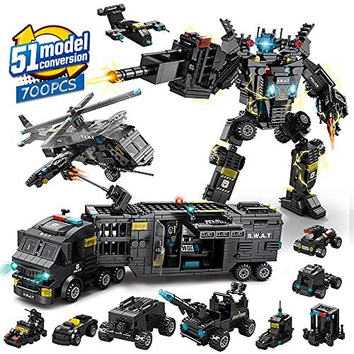 Kidpal STEM giocattoli da costruzione per ragazzi di età 8-12, 51 in 1 Kit di blocchi per l'apprendimento educativo robot, giocattoli per 6 7 8 9 10 11 12 anni, set di erettori di ingegneria 700 PZ