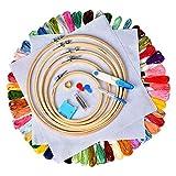 Cozywind Kit de Inicio de Bordado Kit de 50 Madejas de Hilos