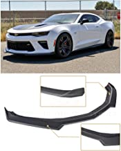Extreme Online Store Replacement For 2016-Present Chevrolet Camaro SS Models | Second Generation Refresh Style ABS Plastic PRIMER BLACK Front Bumper Lower Lip Splitter Fascia Extension