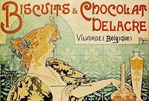 The Museum Outlet – Biscuits et chocolat Delacre – Canvas Print Online Buy (76,2 x 101,6 cm)