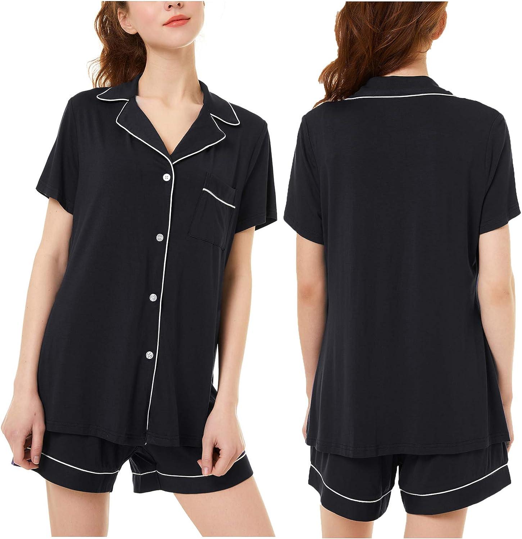 Erato Women's Button Up 100% Soft Pajamas Shorts Set for Sleeping - Prefect Gift
