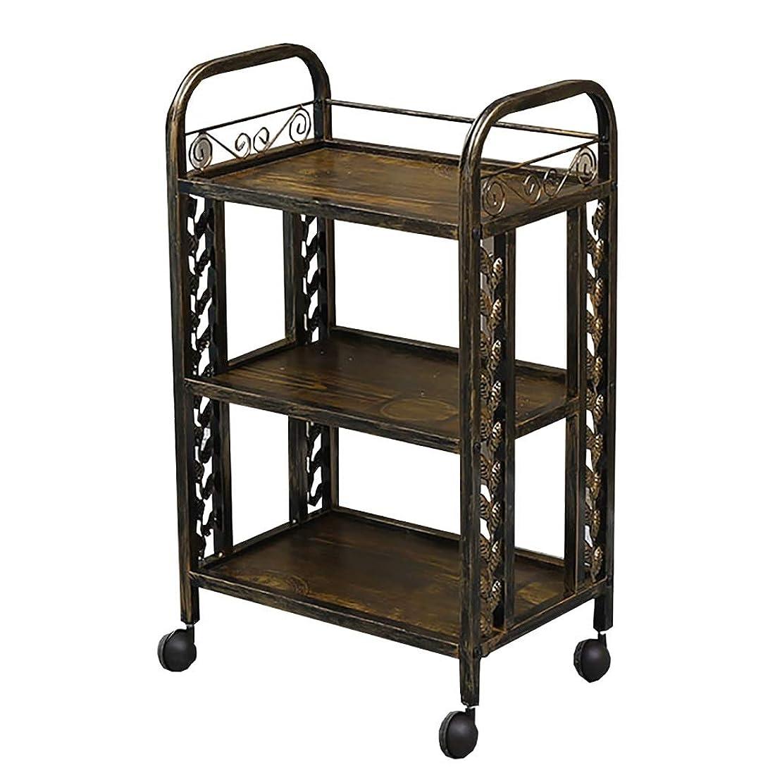 抽選家具見物人美容院のカート、美容院の特別なカートの棚の移動式道具のカートのABSプラスチック多機能カート、49 * 32 * 82 cm (色 : B)