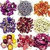 9バッグ自然乾燥花のカラーリング、DIY自然大豆ワックスキャンドル、アロマセラピー香りのキャンドルCandle Making、大豆ワックスFlakes、大豆ワックスキャンドル WWA0038