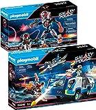 PLAYMOBIL Galaxy Pirates Set de 2 Juegos 70018 70024 Policía Camión + Piratas Robot