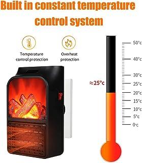 KKmoon - Ventilador de aire caliente, calentador de llama, portátil, eléctrico, calentador de 1000 W, calefactor de mesa, adecuado para oficina, dormitorio, escritorio en casa 900W