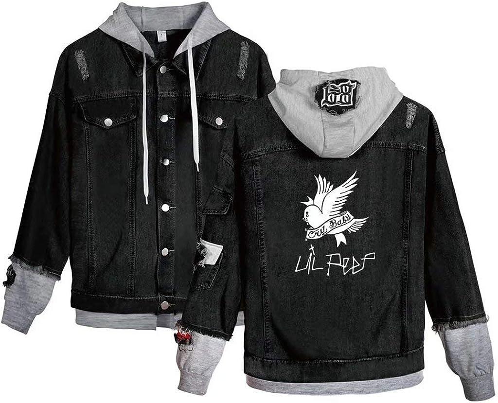 KPOP Rapper Jeans Denim Jacket Love Printed Fashion Sport Hip Hop Hoodies