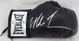 Mike Tyson Autographed Black Everlast Boxing Glove RH Signed In Silver Beckett BAS Stock #155771