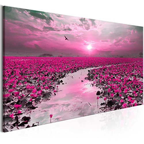 murando Cuadro en Lienzo Paisaje 120x40 cm 1 Parte impresión en Material Tejido no Tejido Cuadro de Pared impresión artística fotografía Imagen gráfica decoración Flores c-B-0332-b-c