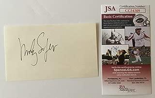 Morley Safer Autographed Signed Memorabilia 3x5 Card JSA Certified 60 Minutes