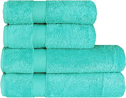 Albeny® Juego de toallas de lujo (4 unidades, 2 toallas de baño de 70 x 140 cm y 2 toallas de mano...