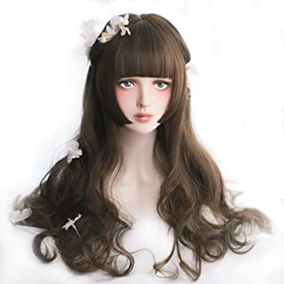 Rulercosplay Fashion Wigs Long Wave Lolita Wig Natural Cosplay Wig With 3 Colors 21.6'' (Brown)