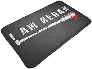 HUTTGIGH I Am Negan Walking Dead Lucille - Alfombrilla antideslizante para puerta de entrada, alfombra de baño, alfombra d...