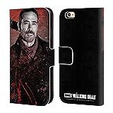 Head Case Designs Licenciado Oficialmente AMC The Walking Dead Lucille 2 Negan Carcasa de Cuero Tipo Libro Compatible con Apple iPhone 6 / iPhone 6s