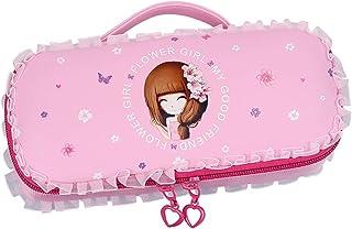 Fanspack Girls Pencil Case Cute Pen Bag Lace Cartoon Pen Bag Stationery Bag Pencil Box