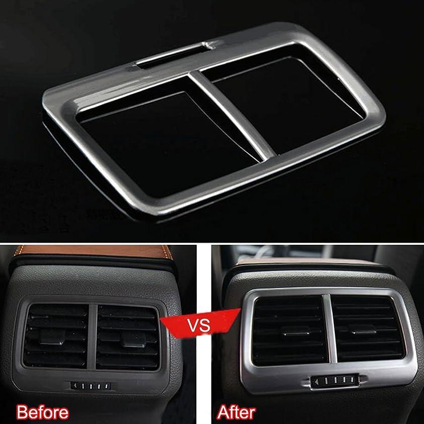 イヤホンヤギ発音Jicorzo - Silver A/C Outlet Vent Frame Cover Trim ABS Interior Car Styling Fit for VW Golf 7 MK7 2014 2015