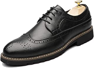 Sygjal Men's Business Oxford Casual New Style Simple Classic British Style Formal Shoes Semi (Color : Black, Size : 41 EU)