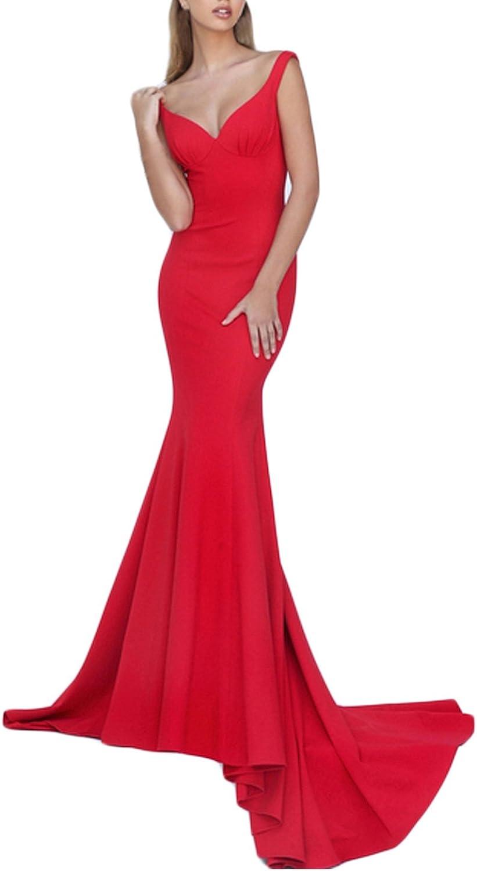 CinderDress Women's Prom Dresses Spandex Off The Shoulder Long Evening Dresses