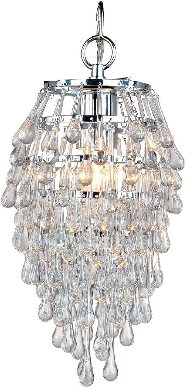 AF Lighting 4950-1H Crystal Teardrop Mini Chandelier