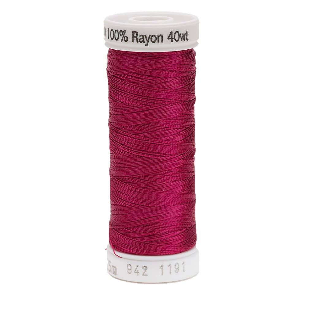 Sulky Rayon Thread for Sewing, 250-Yard, Dark Rose