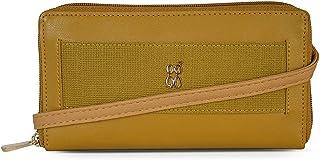 Baggit Autumn-Winter 2020 Faux Leather Women's Ziparound Wallet (Yellow) (Lerry)