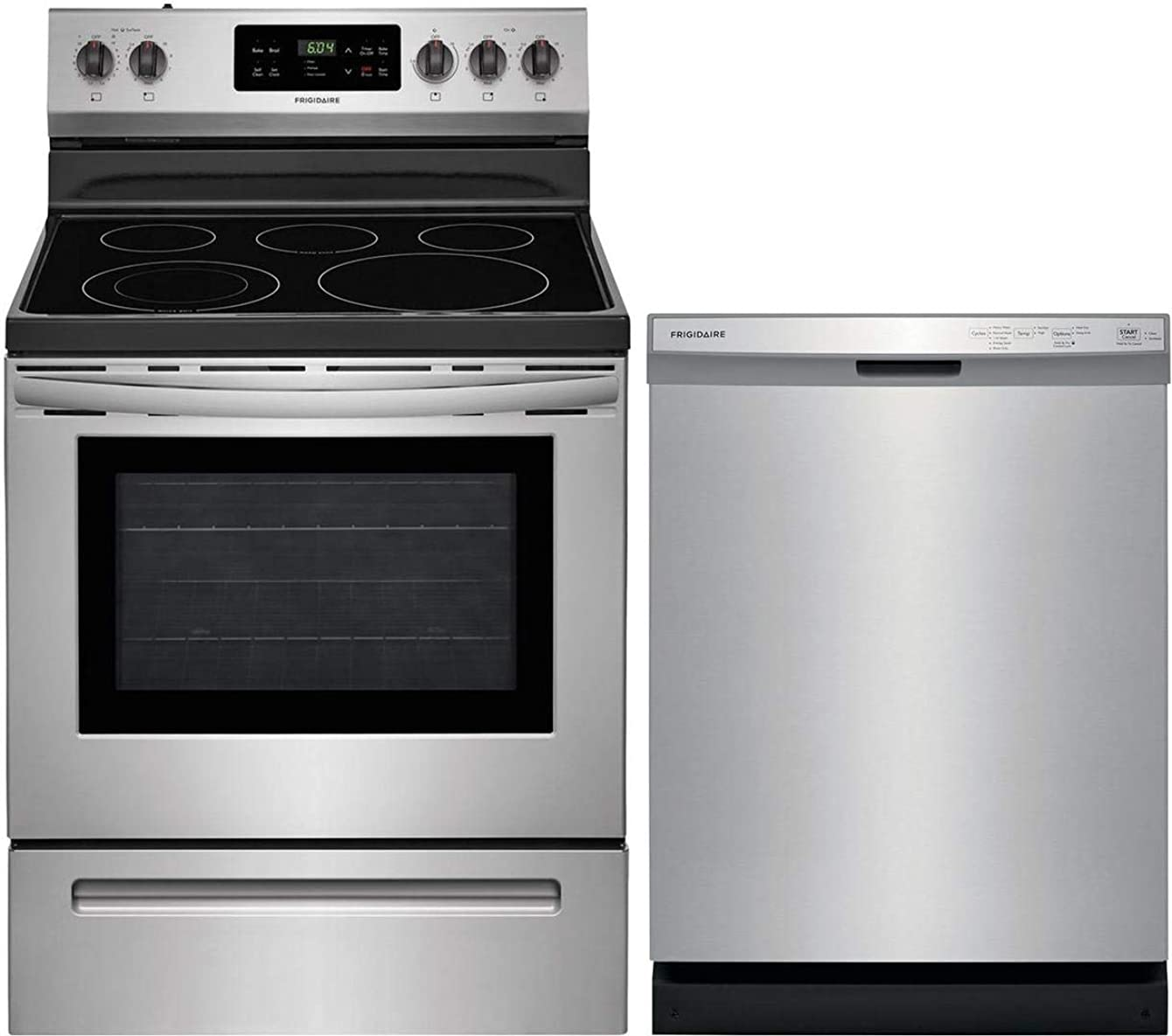 Frigidaire 2 Piece Kitchen Appliances Package with FFEF3054TS 30