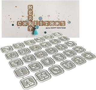Alphabet Lettres Coupe En Métal Meurt Pochoir Scrapbooking Album De Timbres Bricolage