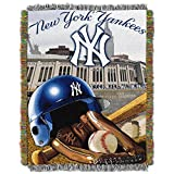 MLB New York Yankees 'Home Field Advantage' Woven Tapestry Throw Blanket, 48' x 60'
