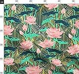 Vintage, Blätter, Blumen, Pfirsich, Art Deco, Jugendstil,