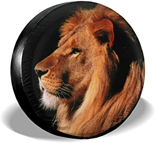 SUV RV Truck Wheel Risating Black Lion Tire Covers Waterproof Spare Tire Cover Car Accessories For Trailer