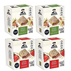 Includes 20 individually wrapped breakfast bars (4 boxes, 5 bars per box) you can enjoy at home, at work, or on the go Packed with 23 grams of 100% whole grains per bar 10 Baked Apple Cinnamon flavor bars and 10 Strawberry flavor bars No artificial f...