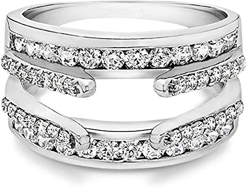 SVC-JEWELS 0.50Ct Round Max 61% OFF Cut 14K Selling and selling White Gold Whit Swarovski Plated