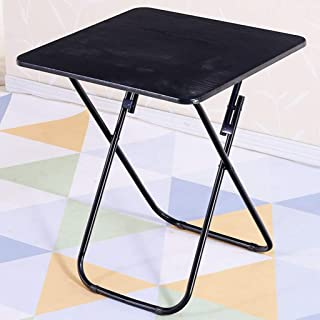 Foldable Card Gaming Table  Wood Utility Folding Table  Portable Outdoor Picnic Snack Drinking  Outdoor Side Tables For Camping  Picnics  Beach  60cmx60cm  color Black