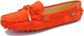 MINITOO Chaussures de Conduite Décontractées pour Femme avec Nœud en Daim Loafers Mocassins Chaussures de Bateau YB9602