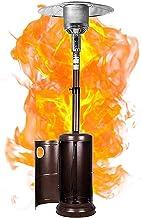 WLHER Patio Heaters - Calentador de Patio, con Ruedas, para terraza jardín al Aire Libre, Alto, Bronce, 13KW, 46000BTU