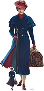 Star Cutouts SC1296 Mary Poppins Emily Blunt Official Disney Lifesize Cardboard Height 187cm Width 90cm with Free Mini Table Top Cutout, Multicolour