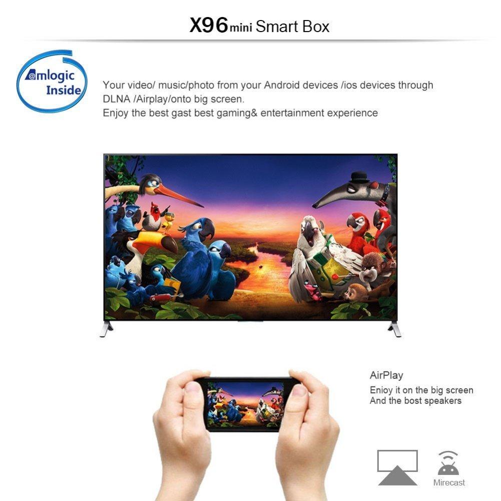 X96 Mini Android 7.1 4K Mini/Dispositivo Streaming per TV con Amlogic S905W,Video 4K UHD H.265, (1+8GB) 2 Porte USB, HDMI, WiFi Web TV Box,tastiera perfetta per: Amazon.es: Electrónica