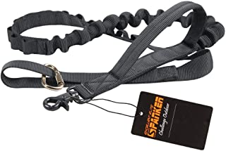 EXCELLENT ELITE SPANKER Bungee Dog Leash Tactical Dog Leash Nylon Adjustable Tactical Leash for Dogs Quick Release Military Dog Leash with 2 Control Handle