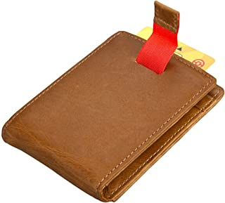 Leather Bag Mens Men's Wallet Retro Card Set Multi-Function Card Package High Capacity (Color : Brown, Size : S)