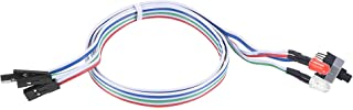 uxcell 2 PIN Power Cable with 2 LED Red and Clear, a Switch for ATX Computer 60cm 2pcs