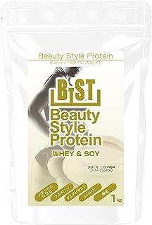 B-ST ビューティースタイルプロテイン ホエイ&ソイ + HMB [クリーミーココア味クッキークランチ入り] 1,000g