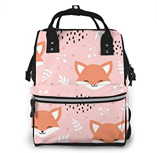 Luiertas Rugzak, JOJOshop schattige vos met stippen grote multifunctionele Travel Back Pack, grote capaciteit, waterdicht ...