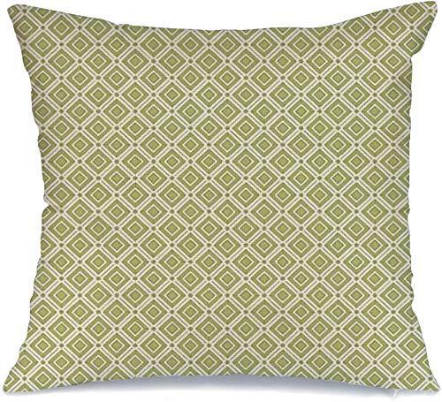 Decoración Throw Pillow Cover Funda de cojín Diamante Patrón de rombo Patrón geométrico Moderno Archivo de pastillas Vintage Retro Elegante Gráfico clásico Funda de Cojine 45 X 45CM