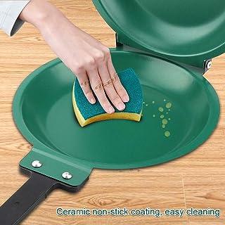 Sartén de doble cara, revestimiento de cerámica antiadherente Sartén abatible Sartén para panqueques Sartén sartén Sartén abatible Utensilios de cocina para el hogar