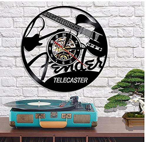 7 Colores con luz Guitarra eléctrica Disco de Vinilo Reloj de Pared...