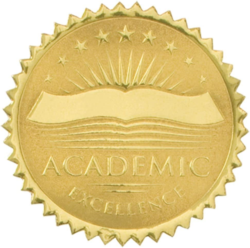 PaperDirect Large discharge sale Academic Excellence Embossed Certificate Discount is also underway Gold Seals