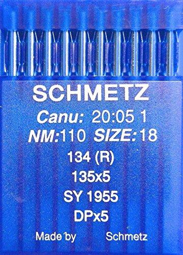 Agujas de coser a máquina Schmetz redondas, 10 unidades, sistema 134(R), Industrie St. 110