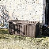 XLLLL Arcon Exterior Impermeable Caseta Depuradora 75 GAL Caja De Almacenamiento JardíN Starplast Bicicletas PláStico Al Aire Libre Banco Patio A Prueba Agua Cubierta