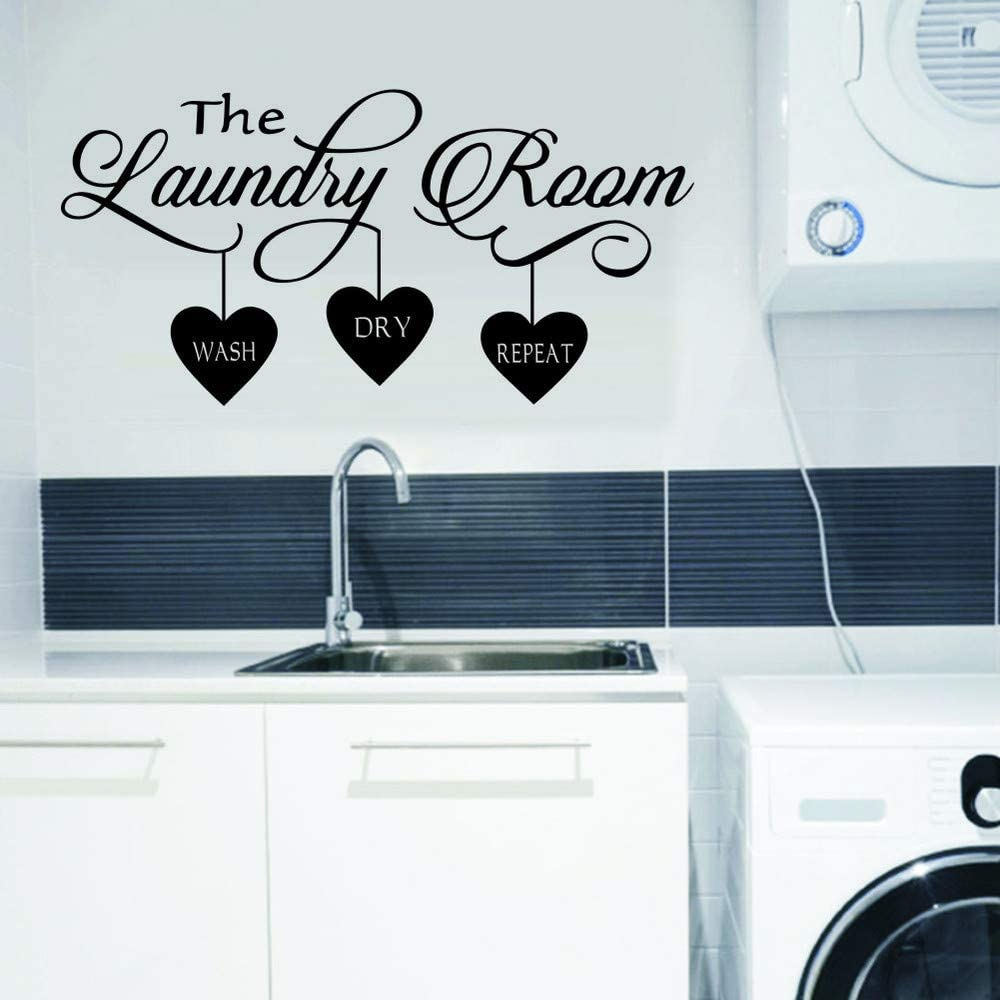 WOVTCP Laundry Wall Decal   Laundry Room Decor   Laundry Room Vinyl Wall  Art   Laundry Vinyl Lettering   Vinyl Wall Quotes