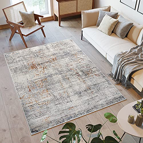Tapiso Feyruz Alfombra de Salón Comedor Dormitorio Juvenil Diseño Moderno Café Beige Moteado Suave 200 x 300 cm