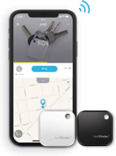 Smart Tag, SwiftFinder Mini Bluetooth Key Finder Locator Anti-Lost Tracker for Key/Phone/Wallets/Purse/Luggage and Bags with APP Control Compatible with iOS and Android Devices 2 Packs
